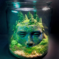 Ancient Goddess Ruins - Fantasy Forest - Terrarium / Diorama
