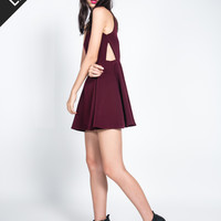WILLA Side Cutout Dress (Burgundy) [PREMIUM]
