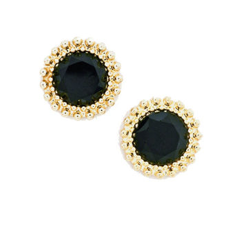 Dash of Color Studs in Black