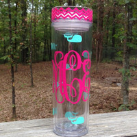 Personalized/Monogrammed Tall and Skinny by MSMudpieBoutique