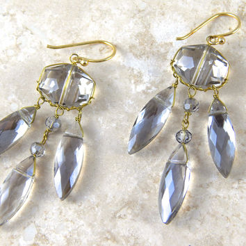 Smoke Stone Earrings