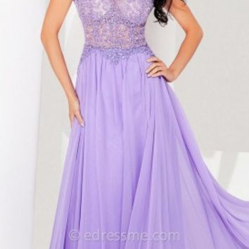 Exquisite Chiffon Prom Gown by Tony Bowls Le Gala