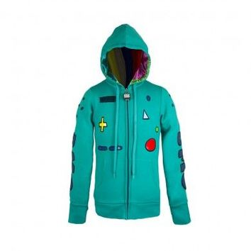 Adventure Time I Am Beemo Juniors Teal Costume Standby Hoodie