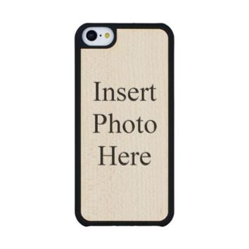 Create Your Own Custom Photo Carved® Maple iPhone 5C Slim Case