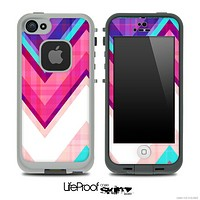 Pink & Blue Vintage V2 Chevron Skin for the iPhone 5 or 4/4s LifeProof Case