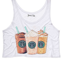 Frappuccino Crop Tank Top
