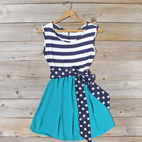 Smoke Blossom Dress in Teal