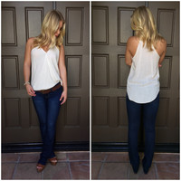 Oatmeal Wrap Jersey Tank - Taupe