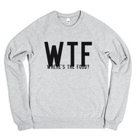 WTF Where's the Food Sweatshirt-Unisex Heather Grey Sweatshirt