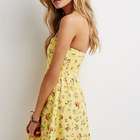 Clustered Floral Sweetheart Dress