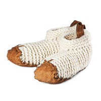 Wool & Salmon Skin House Shoes