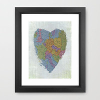 I'm In Love With Cities I've Never Been To Framed Art Print by Ally Coxon   Society6