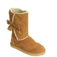 Madness Ladies Microfiber Boots with Bow Detail (5204)