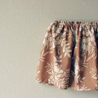 Pastel summer skirt. Floral print elastic by QuickFashionSkirts