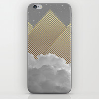 Silence is the Golden Mountain (Stay Gold) iPhone & iPod Skin by Soaring Anchor Designs