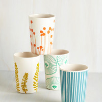 ModCloth Gathering of Fronds Cup Set