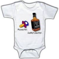 My pacifier. Daddy's pacifier. - Funny Baby One-piece Bodysuit