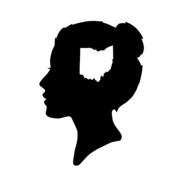 An Ohio State of Mind Silhouette Print Female Free by astateofmind