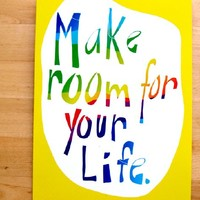 Supermarket: Make room for your life - 5 Postcards Set from M-C Turgeon's Inspired art & design