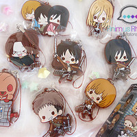 Attack on Titan Pins and Official Rubber strap set