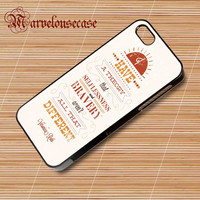 Divergent, Veronica Roth Quotes custom case for all phone case