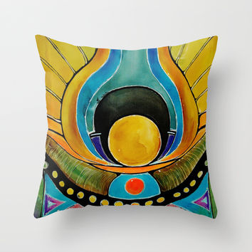 SUNRISE Throw Pillow by Deyana Deco
