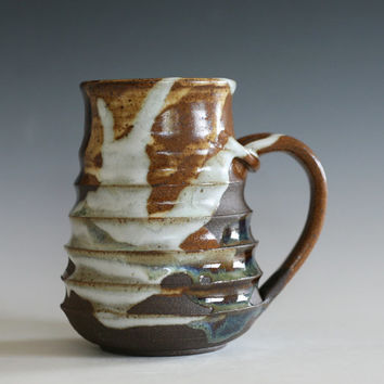 Unique Coffee Mug, 17 oz, pottery coffee mug, ceramic cup, tea cup, stoneware mug, hand thrown mug, ceramics and pottery
