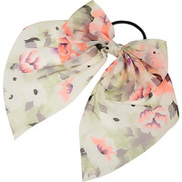 River Island Girls coral bow hair tie