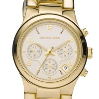 Women's Michael Kors Chain Bracelet Chronograph Watch, 38mm - Gold