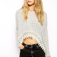 Bethany Stich Top in Gray