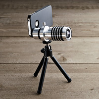 iPhone® 4/4S/5 Zoom Lens & Tripod