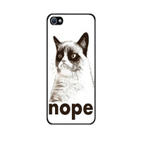 Handmade Case for iPhone 4S with Grumpy Cat White design - Made to Order - Fast Shipping with Tracking number from USA -