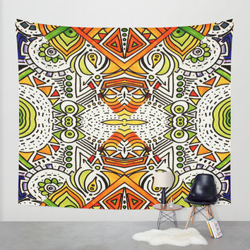 Seeing Tribe Wall Tapestry by DuckyB (Brandi)
