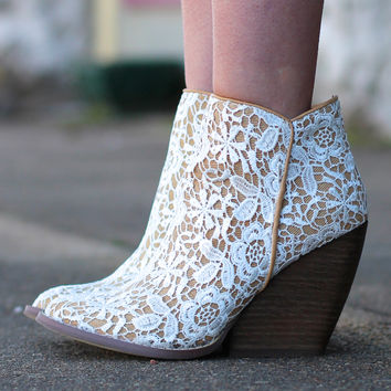 The Tallulah Lace Bootie by VERY VOLATILE