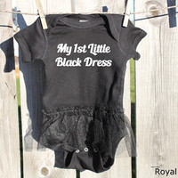 My 1st Little Black Dress Bodysuit, Baby Girl Shower Gift