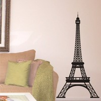 Vinyl Wall Decal Eiffel Tower 5'