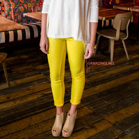 Puttin' On The Glitz Yellow Sequin Leggings