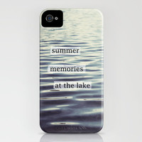 summer memories at the lake iPhone Case by Beverly LeFevre   Society6