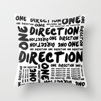 One Direction  Throw Pillow by Courtney Burns