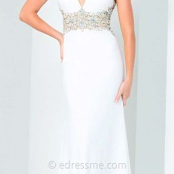 Illusion Back Prom Gown by Tony Bowls Paris