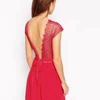 New Look Petite Lace Insert Dress