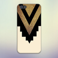 Gold Glitter x Black Chevron Cutout Design Case for iPhone 6 6 Plus iPhone 5 5s 5c iPhone 4 4s Samsung Galaxy s5 s4 & s3 and Note 4 3 2