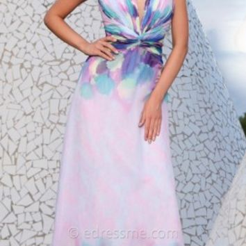 Watercolor Chiffon Prom Gown by Tony Bowls Le Gala