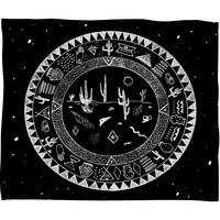 Kris Tate INSIDE DESERTS Fleece Throw Blanket