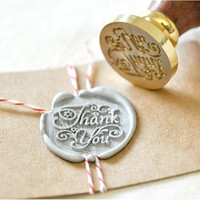 Wax Seal Stamp - Thank You x 1