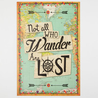 Not All Those Who Wander Art Print Blue One Size For Women 24905720001
