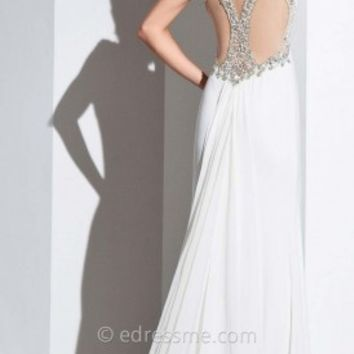 Mesh Cut Out Back Prom Gown by Tony Bowls Paris
