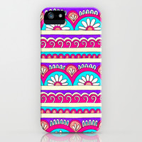 Patterned Stripes 2 iPhone & iPod Case by PeriwinklePeacoat