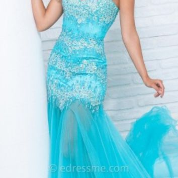 Bubbly Trumpet Prom Gown by Tony Bowls Le Gala