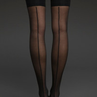 Cuban Heel Thigh-Hi Tights
